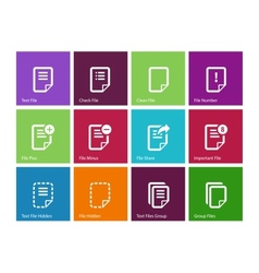 Notepad Document file and Note icons vector image