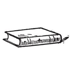 one book vintage vector image
