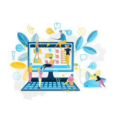 Online service shopping in internet vector