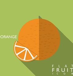 Oranges flat icon with long shadow vector image