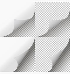 Pages curl set page peel transparent vector