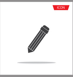 pencil icon isolated on white background vector image