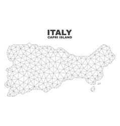 Polygonal mesh capri island map vector