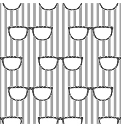 Pop sunglasses retro seamless pattern in grey and vector