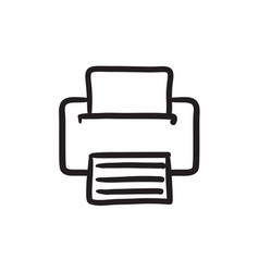 Printer sketch icon vector