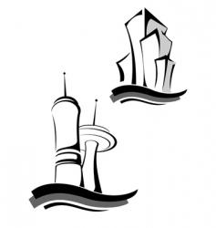 Real estate symbols vector