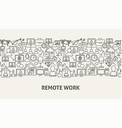 Remote work banner concept vector