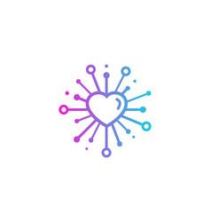 Romantic share logo icon design vector