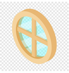 Round window frame icon isometric 3d style vector