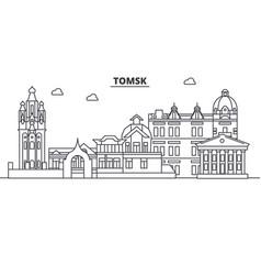 Russia tomsk architecture line skyline vector