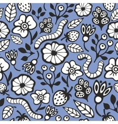 Seamless background with worms vector
