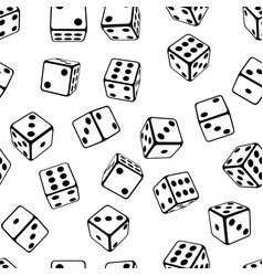 Seamless dice background vector