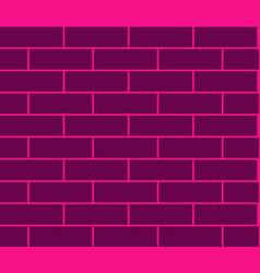 seamless pink brick texture vector image