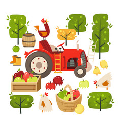 set images representing rural scene vector image