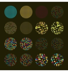 Set of Mosaic design elements vector image