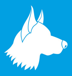 Shepherd dog icon white vector