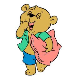 sleepy teddy bear vector image