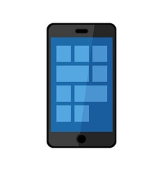 Smartphone icon isolated on white background vector image