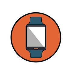 Smartwatch technology isolated icon vector