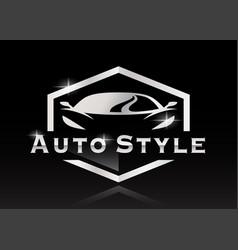 Sports car auto style logo vector