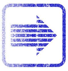 Stripe arrow right framed textured icon vector
