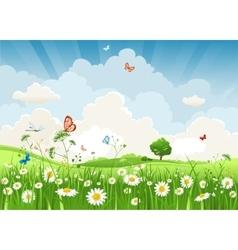 Summer sunny landscape vector image