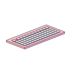 Tech computer wireless keyboard minimalist vector