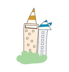 Two buildings vector