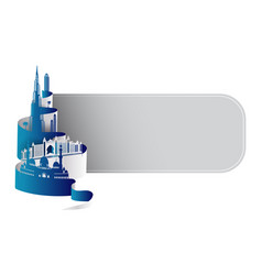 united arab emirates dubai cityscape or skyline vector image