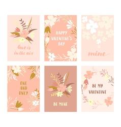 valentine cards set vector image