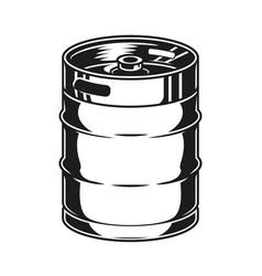 Vintage concept metal beer keg vector