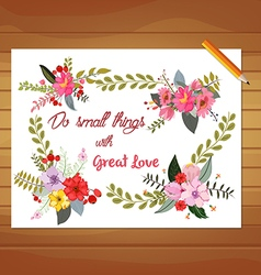 Vintage flowers Colorful hand drawn floral vector