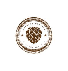 vintage wooden hop craft beer brewing brewery vector image
