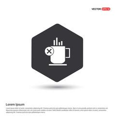 warm drink icon vector image