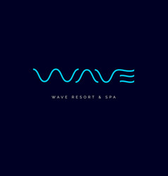 wave line spa logo vector image