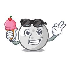 with ice cream golf ball character cartoon vector image