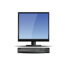 Computer screen vector image