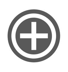 plus icon simple vector image
