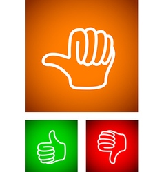 thumbs undecided vector image vector image