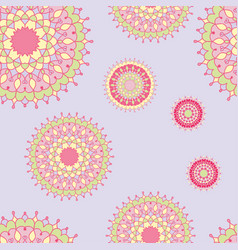 vintage background pastel shades with ornament vector image vector image