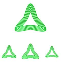 Green line triangle logo design set vector image vector image