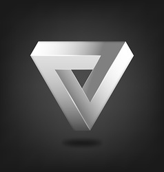 Penrose triangle abstract symbol vector