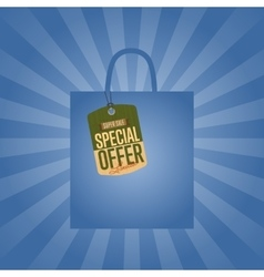 Special offer isolated sale sticker vector