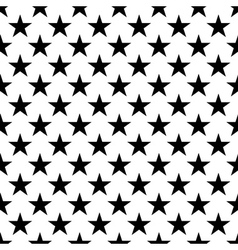 Stars seamless pattern small black white vector image vector image