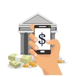 Tablet businnes and financial design vector