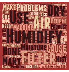 How To Find The Right Type Of Humidifier Filters vector image vector image