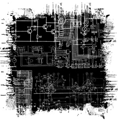abstract technical drawing vector image vector image