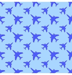 Airplane Silhouette Seamless Pattern vector image