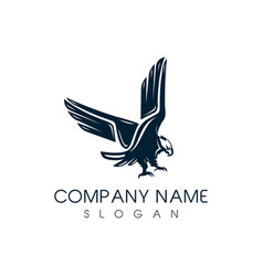 classic eagle logo vector image vector image
