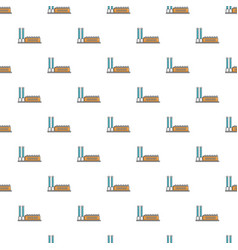 factory building pattern seamless vector image vector image